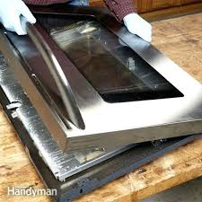 how to clean oven door glass family handyman go where oven cleaner cant reach replacing inner glass on neff oven door