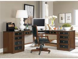 interesting home office desks design black wood. Charming Home Office Design Furniture With L Shaped Wooden Table Black Interesting Desks Wood G