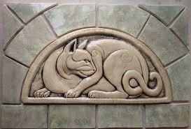 Decorative Relief Tiles Decorative handmade ceramic tile Decorative relief carved ceramic 3