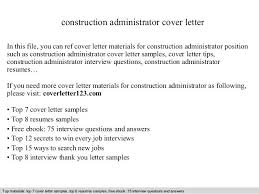Construction Management Cover Letter Project Manager Cover Letter