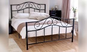 Modern Metal Bed in Black