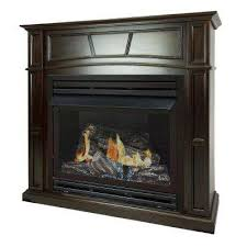 full size ventless natural gas fireplace in