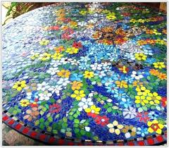 diy mosaic tile table top glass mosaic tile table top diy glass tile table top
