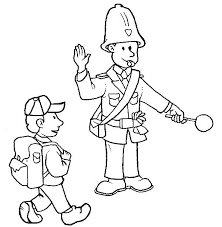 Police Coloring Pages Crossing Guard Pdf Traffic Truyendichinfo