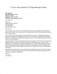 Sample Cover Letter For It Manager Construction Labor Manager