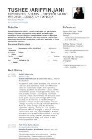 Retail Associate Resume Samples Visualcv Resume Samples Database