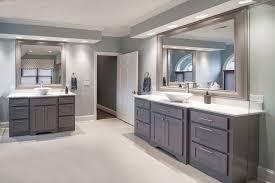 white quartz bathroom transitional with light gray floor vanities intended for arctic prepare 15