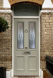 etched toughened glass elegantly provides privacy for this door