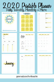 Daily Planner Template 2020 2020 Printable Planner Daily Weekly Monthly And Yearly
