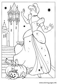Coloring page wonderful princess print outs halloween coloring. Cendrillon Princess Disney Halloween Coloring Pages Printable