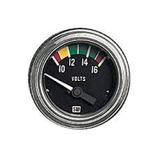 amazon com stewart warner 82309 deluxe 2 1 16 voltmeter electric stewart warner 82309 deluxe 2 1 16 quot voltmeter electric gauge