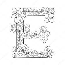 Alfabet Kleurplaat Mandala With Kleurplaten Letters Met Bloemen