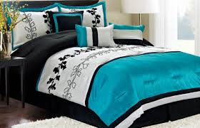 rug under bed hardwood floor. Simple Bedroom With Cal King Blue Black Comforter Set, White Fluffy Rug Under Bed, Bed Hardwood Floor N