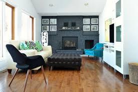 black brick fireplace feature wall