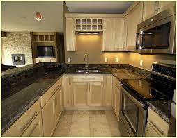 dark green kitchen countertops