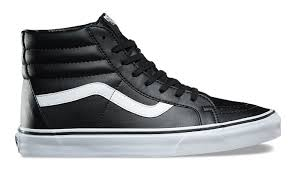 black sneakers vans sk8 hi reissue classic tumble black leather 74 va2xsbnqr shooos