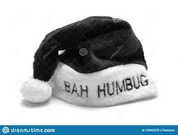 Bah Humbug Hat With Lights Bah Humbug Santa Hat Stock Photo Image Of Fluffy White
