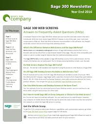 sample company newsletter sage 300 newsletter sample year end 2016