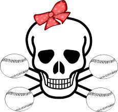 Small Picture Girl Softball Skull Clip Art at Clkercom vector clip art online