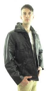 men s leather flight jacket in black