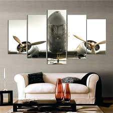 metal airplane wall art modular home decor canvas printed pictures living room plane poster frame 5 pieces 3d