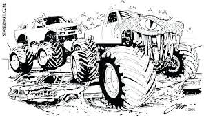Grave Digger Coloring Pages Grave Digger Coloring Pages Page