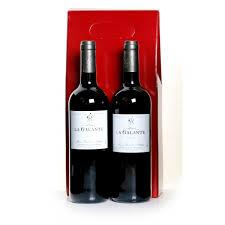 galante bordeaux red white wine gift set