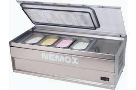 counter top gelato display cabinets nemox