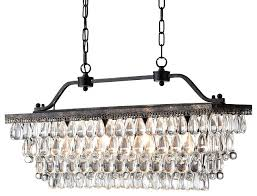 rustic linear chandelier antique bronze rectangular crystal chandelier dining room ceiling intended for popular property bronze