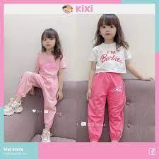 Đồ bộ bé gái KIXI bộ quần áo hiphop bé gái 22 - 30kg cotton 4 chiều mềm mịn  thoáng mát CMQA21 giá cạnh tranh