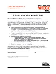 Do You Have Distracted Driving Employee Policy?