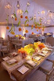flower and chandelier wedding tent