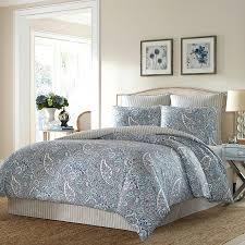 ralph lauren paisley bedding blue