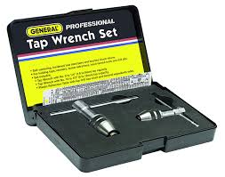 Tap And Die Set Size Chart General Tools 167 Professional Tap Wrench Set