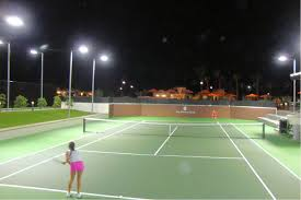 How Much Does It Cost To Light A Tennis Court Brite Court Tennis Lighting Led Tennis Lighting For Indoor