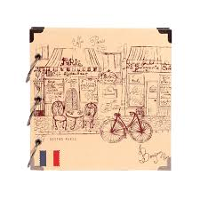 Vacation Albums Travel Scrapbook Romantic Paris Vintage Sketch Cover For Vacation