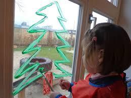 Weihnachtliche Fensterbilder Mit Fingerfarbe Fif Ev