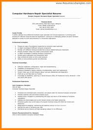 Computer Repair Technician Resume Letter Of Resignation To Employer