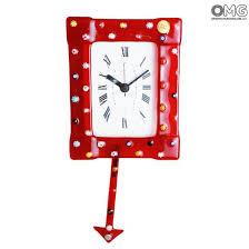pendulum wall clock murrina red