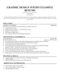 Graphic Designer Resume Objective Sample Internship Resume Objective