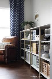 Home office ikea Furniture Ikea Hack Home Office Shelving Landeelu Ikea Hack Ivar Home Office Shelves Landeelucom