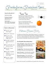 october newsletter ideas lovely october preschool newsletter template or october preschool