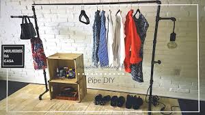 pipe clothing rack. Delighful Pipe DIY Industrial Pipe Clothing Rack In O