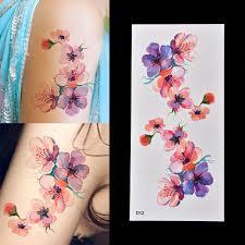 Dočasné Tetování Barevné Květy