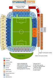 Galaxy Seating Chart Chargers Stadium Seating Map Stubhub Center Chargers Seating