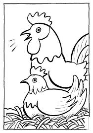 Chicken Color Page Coloring Pages Chickens Cattle Little Pictures