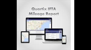 ifta mileage tracker quartix us fleet tracking system ifta mileage reporting demo youtube