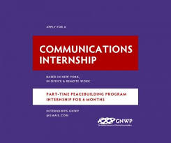 Apply Today Peacebuilding Communications Internship