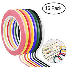Whiteboard Graphic Chart Tape 16 Rolls Dry Erase Board Grid Marking Tape Thin Removable Gridding