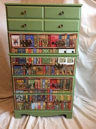 decoupage ideas for furniture. vintage dresser with book decoupage by batterupcycle on etsy furnituredecoupage ideasfurniture ideas for furniture